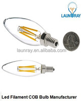 Best Selling Led Products in Americ E12 E26 UL Dimmable Led Filament Candle bulb 2W 3W 4W with 2200K 2700K 4000K lighting