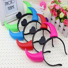 led flashing light up headbands/horns LED Headband/flashing light headband for Halloween Party