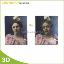 OEM 3d lenticular changing pictures 3d move Halloween picture