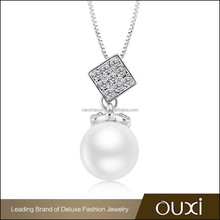 OUXI Wholesale fashionable latest new arrival pearl necklace designs