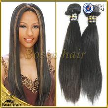 Pelo natural superior 5a de buena calidad barato que teje el pelo indio