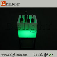 Led light up flower pot / led outdoor ice bucket / plastic garden decoration led flower pot
