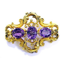 Antique style top design gold plating palace brooch for old women