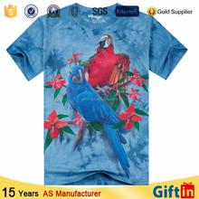 Sublimação 3D T-shirt China fabricante T-shirt feito sob encomenda muito barato T-shirt impressão