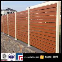 cheap wooden fence panels for aluminum slat fence, imitation wooden fence slats
