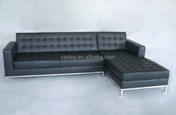 China manufacturer knoll sofa replica leather corner sofa for sale
