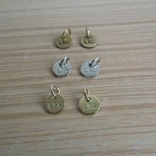 L&L Engraved Logo Brass Jewelry Tag, Bracelet Tag - Vintage Bronze, Silver & Gold