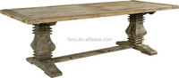 DT-1502 French Classic Furniture Recycle elm Wood Rustic Dining Table