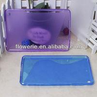 FL2211 2013 Guangzhou hot selling soft trasparent s line back cover tpu case for ipad mini