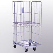Supermarket Foldable Stainless Steel Roll Cage