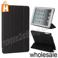 Football Pattern Three Fold Stand Leather Case For iPad Mini Retina iPad Mini