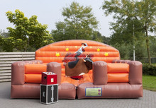 inflatable bull riding machine,inflatable rodeo bull sports,inflatable riding bull