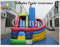 slide inflatable jumping/small indoor inflatable slide/china inflatable slide