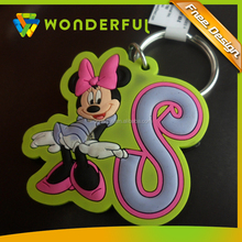 Custom Package Required High Precision Soft Pvc Beautiful Minnie Mouse Birthday Gift Wholesale Rubber Keychain