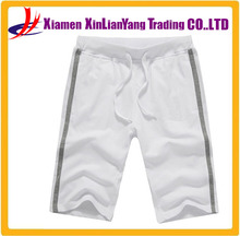 Wholesale custom cheap white french terry fabric mens shorts