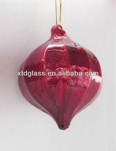Glass Christmas red onion