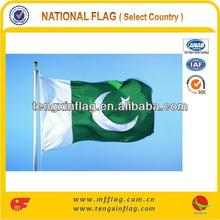 100% POLYESTER HOT SELLING PAKISTAN COUNTRY FLAG