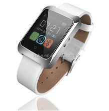 2015 Genuine Leather smart Watch Band Bluetooth/GPS/WIFI 3G GSM Android Smart Watch Phone