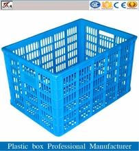 Seafood plastic storage turnover basket crates