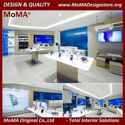 Clear Style Mobile Phone Store Interior Design And Fixtures