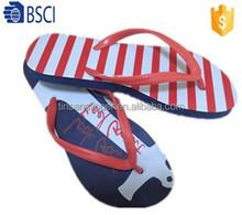 Rubber strap rubber sole custom printed wedding beach flip flops