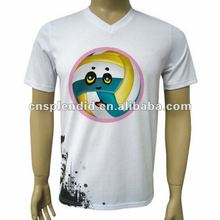 2012 customized led rubberized printing t shirt for sports
