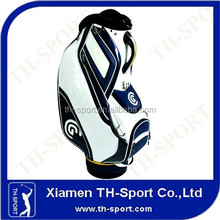 luxury pu leather white golf staff bag 1 golf bag