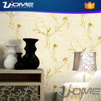 uhome new 3d modern trail flower design home decorative wall paper