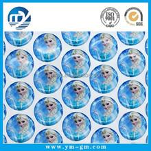 3D custom clear bubble epoxy sticker