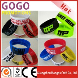 """hot sales lowest cost and high quality silicone bracelet,Promotional Custom Silicone wristband,1"""" Wide Personalized Silicon band"""