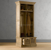 french style wooden clothes cabinet/antique wood clothes cabinet