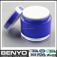 big size blue color face cream using 200g acrylic cosmetic jar