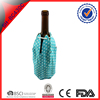 blue nylon wine ice cooling bottle cooler gel pack with draw cord
