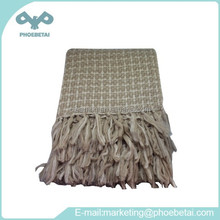 cheap plain and plaid acrylic blanket for promotion as gifts