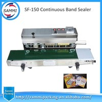 Table Top Continuous Plastic Bag Sealing Machine With Date Coding