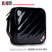 Black BUBM 32 Capacity PU Leather Cover CD Case CD Box DVD Case CD-ROM Holder Car Disc Case