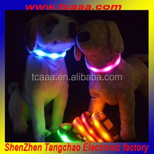 2015 Hot sale product Nylon Flashing Pet Collar safe product for decoration