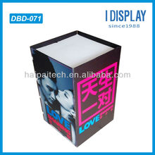 POS cosmetic cardboard dump bin display rack for retail