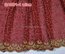SA001-1 new african cotton lace swiss voile laces high quality handcut voile laces fabric