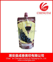 Stand up wine bag with spout tap