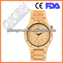 2015 vogue natural wholesale wrist for men and women with customized logo wood watch
