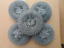 household cleaning tools ,galvanized mesh scourer,pot and pan cleaning scrubber