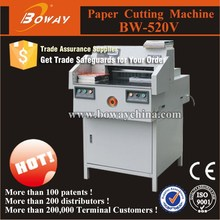 Boway 520mm Electrical Programmed A4 paper cutter guillotine 500 sheet