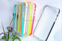Hot selling top quality caller flash colorful TPU+PC smart phone case for iphone 5/iphone 5s