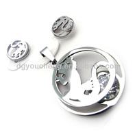 Stainless steel lizard earrings& pendant animal shaped jewelry