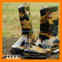 High quality cheap camo rain boots custom logo rain boots fashion rain boots