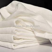 High quality white cloth gauze baby diaper