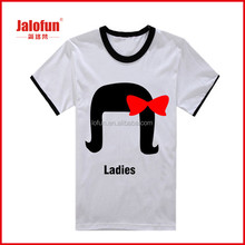 high quality cheap lady designer 100% cotton printing fashion t shirt manufacturer
