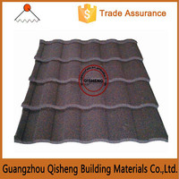 Fashion mediterranean style color stone chip coated metal roof tile/Clear sand metal roofing panels in china