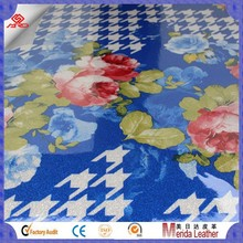 MRD3571 2015 flowers Low price pattern sofa bed leather pvc spong leather